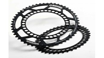 ROTOR Q-Ring Campa 2x10/11-velocidades Road plato 40 dientes 5 agujeros (135mm) negro(-a) (interior)
