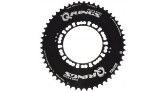ROTOR Q-Ring Aero Campa 2x10/11-velocidades Road plato 53 dientes 5 agujeros (135mm) negro(-a) (exterior)