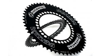 ROTOR Q-Ring Aero corona catena a 5 bracci (130mm) nero