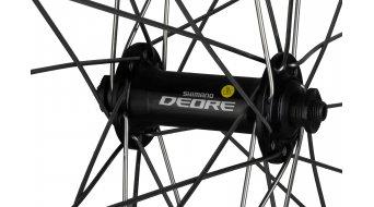 Shimano Deore 28 rueda completa rueda delantera, ZAC 2000, Sapim 2.0, color plata/negro(-a)