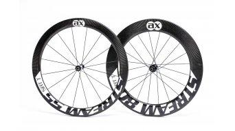 AX Lightness S 55/80T Selection Tubular 3K-carbon road bike wheel set 16/20h free-wheel