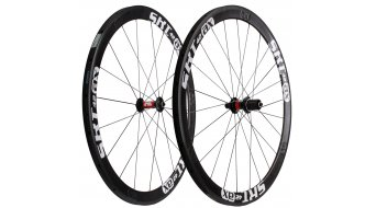 AX Lightness standard Road 42 Tubular wheel set 16/20h black/white/3K-carbon freewheel