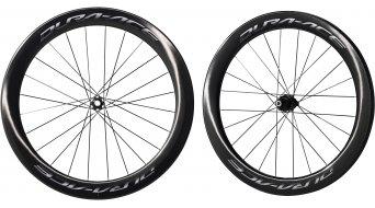 Shimano Dura Ace WH-R9170-C60-TU Carbon bici da corsa Disc set ruote ant+post Tubular 11 velocità nero
