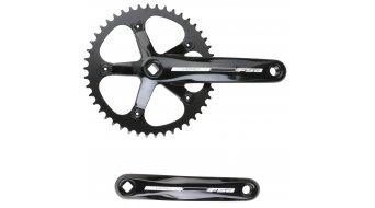 FSA Vero crank kit 172.5mm 46 teeth JIS square singlespeed black (without bottom bracket )