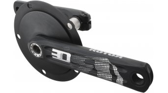 ROTOR 3D24 Aero Rennrad Kurbel 24mm-Welle (130 BCD) schwarz/silber