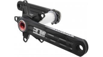 ROTOR 3D+ Rennrad Kurbel 30mm-Welle (110 BCD) schwarz/rot