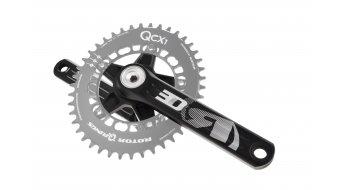 ROTOR 3D30 Cyclocross 1-velocidades biela 170mm (110 BCD) negro(-a)/color plata