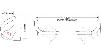 Ritchey WCS Logic II országúti kormány Road Bar 31.8x420mm 132mm-Drop wet white