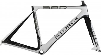 Storck Aernario disque G1 vélo de course jeu de cadre taille 57cm matt white/matt black Mod. 2015