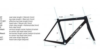 Storck T.I.X. COMP G1 Cyclocrosser kit de cuadro negro/blanco Mod. 2016