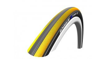 Schwalbe Lugano PunctureProtection wire bead tire 23-622 (700x23C) Silica-compound yellow stripes 2012