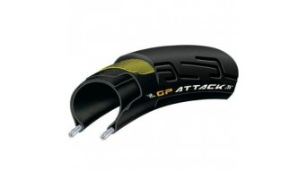 Continental Grand Prix Attack II VectranBreaker gomma ripiegabile 22-622 (700x22C) nero 3/330tpi BlackChili-Compound
