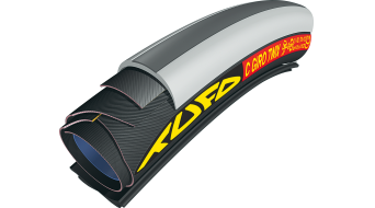 "Tufo C Giro Twix Road tubular for wire rim 28""x21mm 120tpi black/grey/black"