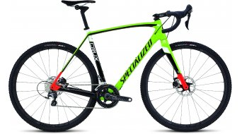 Specialized Crux Pro Race Cyclocrosser Komplettbike Gr. 58cm gloss monster green/rocket red/tarmac black/white Mod. 2016