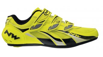 Northwave Fighter road bike shoes size 42 yellow fluo/black