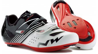 Northwave Torpedo Junior bici carretera zapatillas niños-zapatillas blanco/negro/rojo