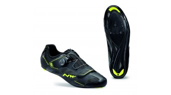 Northwave Sonic 2 Plus Wide Rennrad Schuhe black/yellow fluo