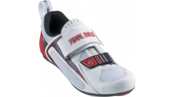 Pearl Izumi Tri Fly III carbon Triathlon- shoes size 46.0 white/true red winter 11/12