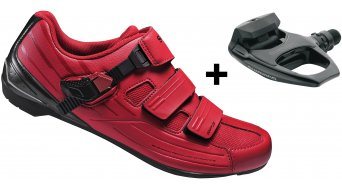 Shimano SH-RP3R SPD-SL/SPD Schuhe Rennrad-Schuhe rot inkl. Shimano PD-R540 Pedale - Limited Edition