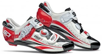 Sidi Ergo 3 carbon Vernice road bike shoes size 47 white/black/red