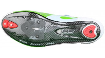 Sidi Wire carbono Caballeros bici carretera zapatillas tamaño 39 verde fluo/blanco Mod. 2016