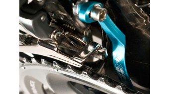 K-Edge Double Road guida catena per a saldare- supporto blue