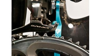 K-Edge Double Road guida catena per a saldare- supporto blue