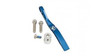 K-Edge Pro Double Road Kettenleitblech für Anlöt-Befestigung blue