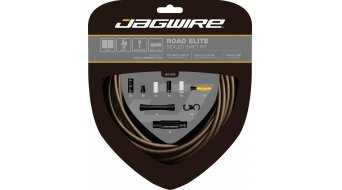 Jagwire Road Elite Sealed Schaltzugset matt-braun