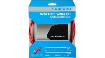 Shimano BC-9000 Polymer Road juego cable de cambio rojo(-a)