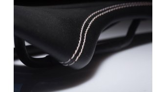 AX Lightness Leaf de cuero 3K carbono sillín 3K-carbono/de cuero negro(-a) (hasta-100kg-Fahrergewicht)