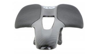 AX Lightness Leaf Plus 3K karbon nyereg 3K-karbon/bőr fekete (bis-100kg-vezetősúly)