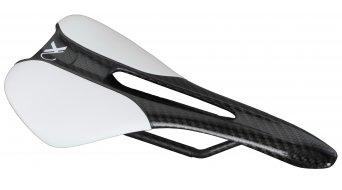AX Lightness Leaf Plus 3K carbone selle 3K-carbone/cuir blanc (à-100kg-poids du cycliste)