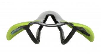 AX Lightness Leaf Plus 3K karbon nyereg 3K-karbon/bőr zöld (bis-100kg-vezetősúly)