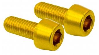 NC-17 Flaschenhalterschrauben M5x12 (2 Stück) gold