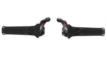 SRAM GX Grip Shift Drehgriff Schalthebel set 2x11 velocità (incl. manopola) nero/rosso