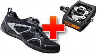 Shimano SH-CT40L Click´r-Schuhe schwarz Mod. 2013 + PD-T400 ClickR Pedale schwarz