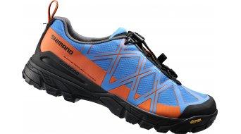 Shimano SH-MT54B SPD Schuhe Mountain-Touring MTB-Schuhe blau/orange