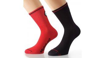 Assos milleSock evo7 Socken (2 Paar) Gr. 35-38 (0) nationalRed&blockBlack