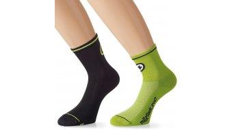 Assos milleSock evo7 Socken (2 Paar) Gr. 35-38 (0) pitonGreen&blockBlack