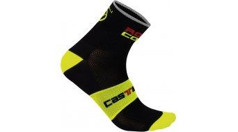 Castelli Rossocorsa 9 Socken Herren-Socken black/yellow fluo