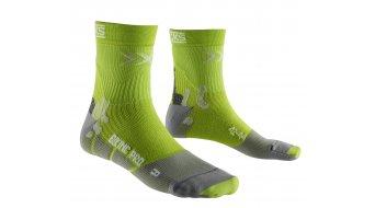 X-Bionic Pro Mid Socken Gr. 35/38 green lime/pearl grey