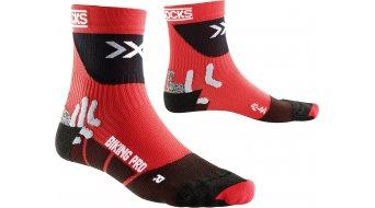 X-Bionic Pro Mid Socken Gr. 35/38 red/black