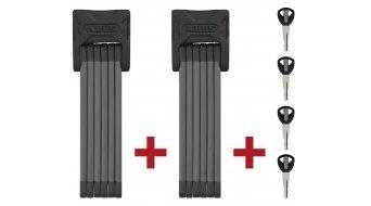 Abus Bordo 6000 Twin-juego candado para bicicleta candados plegables 90cm-largo(-a) (incl. bolsos para transporte)