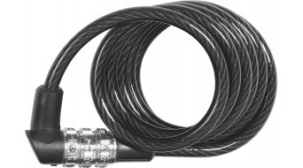 Abus 1150 自行车锁 缆锁 120厘米-长 black