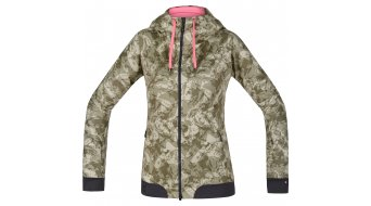 GORE Bike Wear Power Trail Print Sweatjacke Damen-Sweatjacke MTB Lady Windstopper Soft Shell Zip Hoodie camouflage