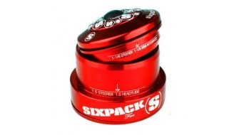 Sixpack Fire R Steuersatz tapered red polished anodized (ZS44/28.6 I EC49/30) Mod. 2016