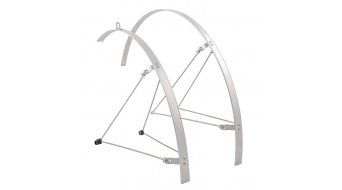 "Hebie Fixed Guard aluminium mudguard- set front wheel/rear wheel 28"" length silver"