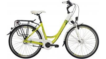 """Bergamont Belami N7 C1 26"""" City- bike size 44cm white/lime/yellow/green (shiny) 2014"""