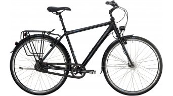 Bergamont Horizon N8 Rigid Gent 28 trekking bike black/cyan/grey (matt) 2014